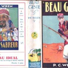 Libros antiguos: P, C, WREN : BEAU GESTE (MENTORA, 1929). Lote 191808357
