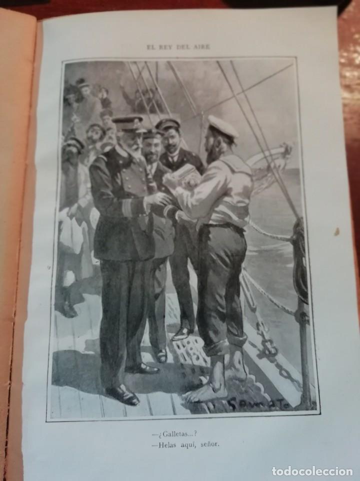 Libros antiguos: EL REY DEL AIRE DE EMILIO SALGARI AÑO 1911 - Foto 4 - 191811810