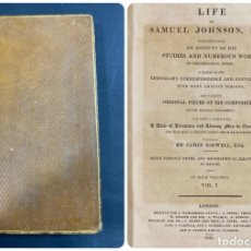 Libros antiguos: THE LIFE OF SAMUEL JOHNSON. BY JAMES BOSWELL. VOL. I. LONDON, 1823. PAGS: 416. Lote 191870518