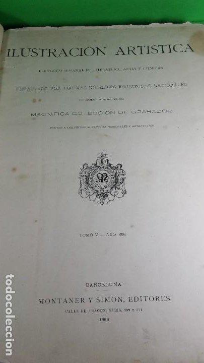 Libros antiguos: 1886. La Ilustración artística. - Foto 4 - 191918453