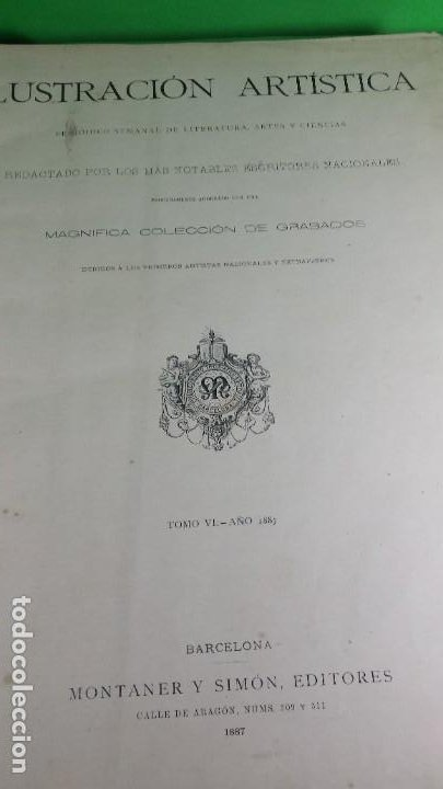Libros antiguos: 1.887 La Ilustración Artística. - Foto 3 - 191920878