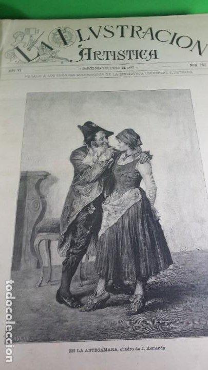 Libros antiguos: 1.887 La Ilustración Artística. - Foto 4 - 191920878