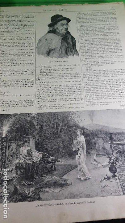 Libros antiguos: 1.887 La Ilustración Artística. - Foto 8 - 191920878