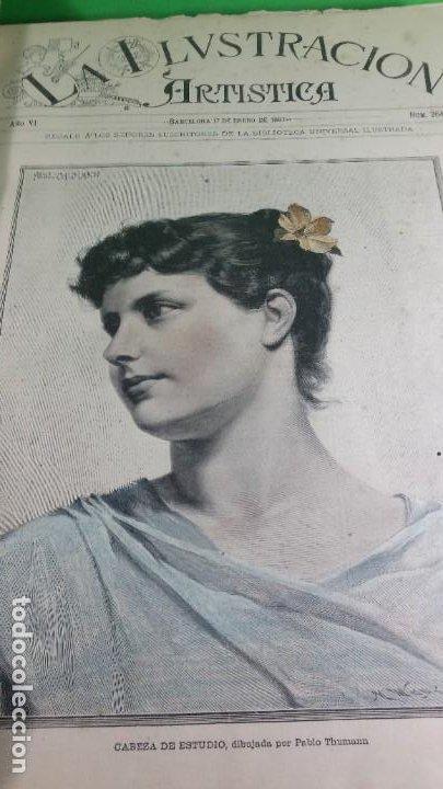 Libros antiguos: 1.887 La Ilustración Artística. - Foto 12 - 191920878