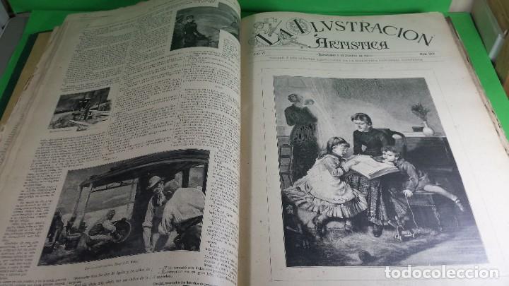 Libros antiguos: 1.887 La Ilustración Artística. - Foto 29 - 191920878