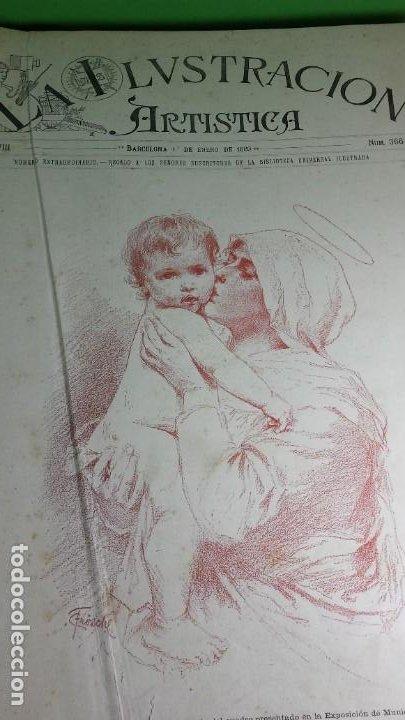 Libros antiguos: 1.889 La Ilustración artística. - Foto 2 - 191923357