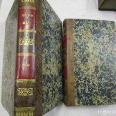 Libros antiguos: O ARCHIVO RURAL, JORNAL DE AGRICULTURA ARTES E SCIENCIAS CORRELATIVAS - LISBOA 1858/59 2 TOMOS +INFO. Lote 191935076