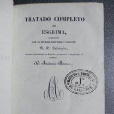 Livros antigos: TRATADO COMPLETO DE ESGRIMA AÑO 1841 MUY RARO CON GRABADOS DESPLEGABLES. Lote 191969476