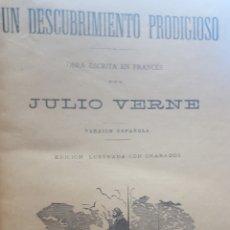 Libros antiguos: JULIO VERNE: TOMO CON 10 OBRAS EDITORIAL SAENZ DE JUBERA, GRABADOS, ENCUADERNADO CON LOMERA EN PIEL.. Lote 191994177