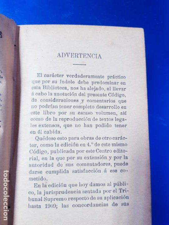 Libros antiguos: LIBRO-CÓDIGO DE COMERCIO-1910-CENTRO EDITORIAL GÓNGORA-DUODÉCIMA EDICIÓN-RARO+ESCASO-VER FOTOS - Foto 7 - 192097070