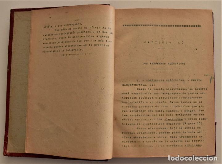 Libros antiguos: ESCUELA OFICIAL DE TELEGRAFÍA, APUNTES PARA UN PROGRAMA DE TELEGRAFÍA PRÁCTICA, RAMÓN M. NIETO 1920 - Foto 4 - 192162900