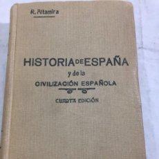Libros antiguos: HISTORIA DE ESPAÑA Y DE LA CIVILIZACION ESPAÑOLA. TOMO I. - RAFAEL ALTAMIRA Y CREVEA 4ª ED. 1928. Lote 192213571
