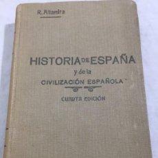 Libros antiguos: HISTORIA DE ESPAÑA Y DE LA CIVILIZACION ESPAÑOLA. TOMO II. - RAFAEL ALTAMIRA Y CREVEA 4ª ED. 1929. Lote 192213777