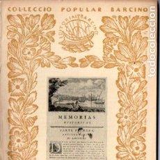 Libros antiguos: ANTONI DE CAPMANY : L' ANTIGA MARINA DE BARCELONA (1937) - COL. BARCINO. EN CATALÁN. Lote 192226913