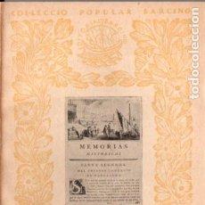 Libros antiguos: ANTONI DE CAPMANY : L' ANTIC COMERÇ DE BARCELONA (1937) - COL. BARCINO. EN CATALÁN. Lote 192227300