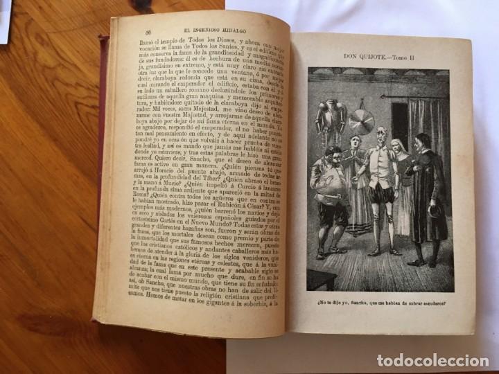 Libros antiguos: libro antiguo don quijote de la mancha del año 1901, tomo segundo, edicion ilustrada - Foto 6 - 192345080
