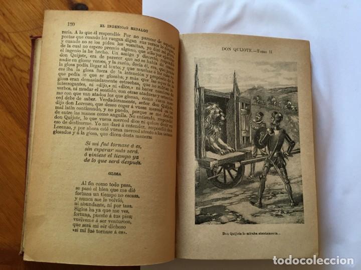 Libros antiguos: libro antiguo don quijote de la mancha del año 1901, tomo segundo, edicion ilustrada - Foto 7 - 192345080