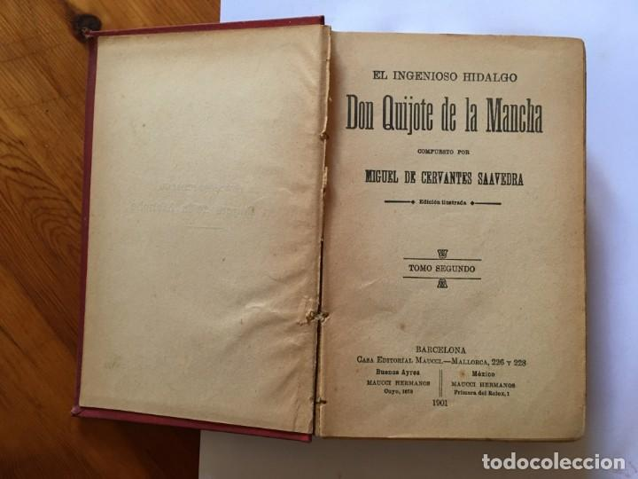 Libros antiguos: libro antiguo don quijote de la mancha del año 1901, tomo segundo, edicion ilustrada - Foto 8 - 192345080