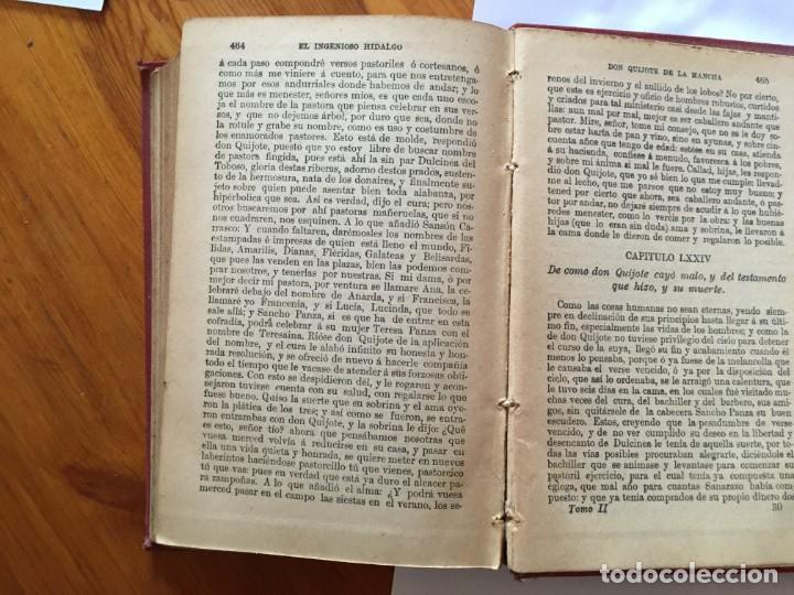 Libros antiguos: libro antiguo don quijote de la mancha del año 1901, tomo segundo, edicion ilustrada - Foto 9 - 192345080