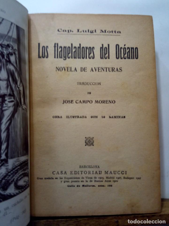 Libros antiguos: LUIGI MOTTA - LOS FLAGELADORES DEL OCÉANO - ILUSTRADO - AVENTURAS - Foto 4 - 192369832