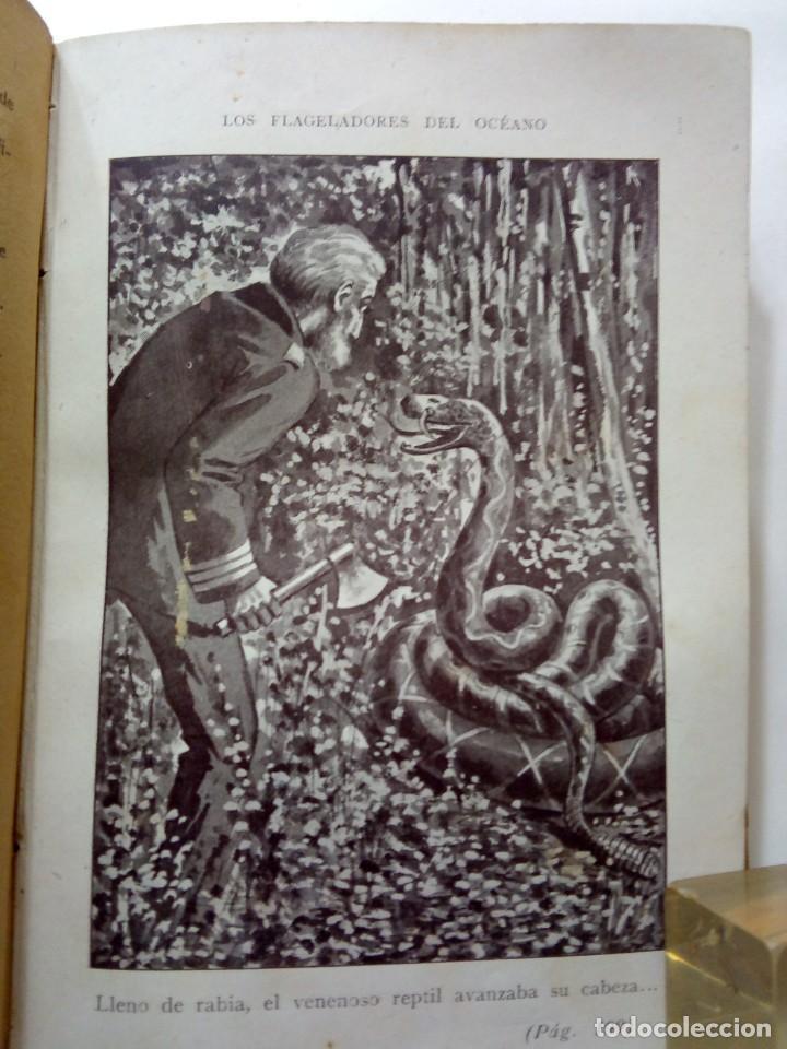 Libros antiguos: LUIGI MOTTA - LOS FLAGELADORES DEL OCÉANO - ILUSTRADO - AVENTURAS - Foto 9 - 192369832