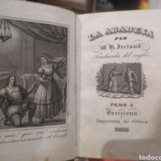 Libros antiguos: LA ABADESA, IMPRENTA DE OLIVA, 1838, TOMO 1, BARCELONA. Lote 232845145