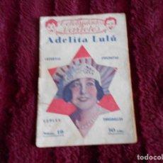 Livres anciens: LIBRITO DE ADELITA LULU CELEBRIDADES DE VARIETES. Lote 192393758