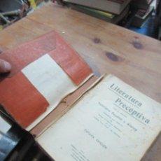 Libros antiguos: LITERATURA PRECEPTIVA, VICTORIANO POYATOS Y ATANCE. (1935). L.20815. Lote 192543751