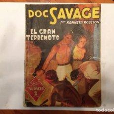 Libros antiguos: NOVELA COLECCION HOMBRES AUDACES,DOC SAVAGE,Nº 56 KENNETH ROBESON, ANTIGUA DE 1943C. Lote 192658795