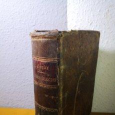 Libros antiguos: AUTORES SELECTOS SAGRADOS, CRISTIANOS Y PROFANOS. 3 TOMOS. JOAQUIN ESPAR. 1869? . Lote 192755581