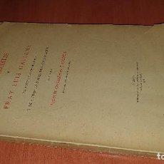 Libri antichi: CARTAS ERUDITAS DE FRAY LUIS GALIANA.. PUBLICA VICENTE CASTAÑEDA, QUE DEDICA A SU HERMANA Y FIRMA . Lote 192782596