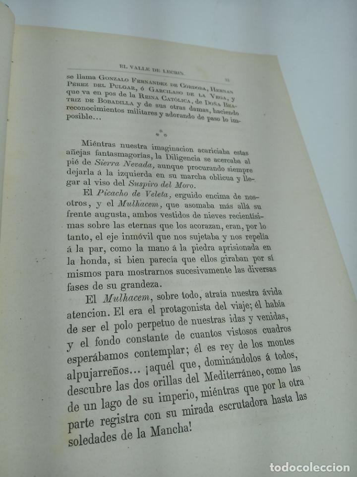 Libros antiguos: La Alpujarra, sesenta leguas a caballo. D. Pedro Antonio de Alarcón. Madrid. 1874. - Foto 6 - 192787422