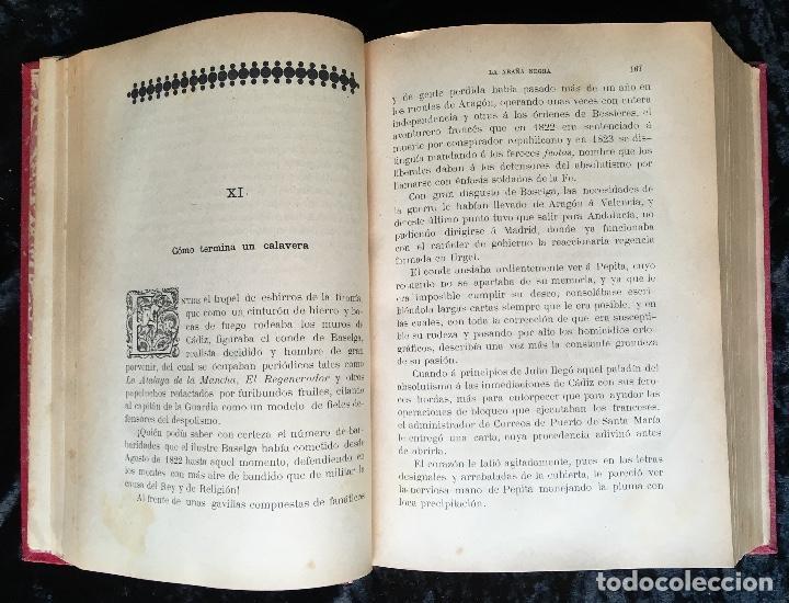 Libros antiguos: LA ARAÑA NEGRA - VICENTE BLASCO IBÁÑEZ - 1892 - 2 TOMOS - CROMOLITOGRAFÍAS - 1ª ED. SEIX EDITOR - Foto 7 - 192836916