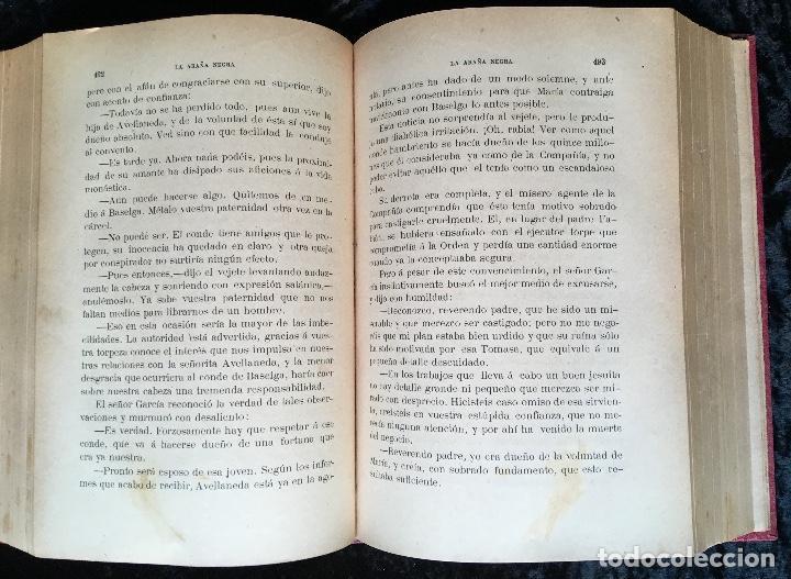 Libros antiguos: LA ARAÑA NEGRA - VICENTE BLASCO IBÁÑEZ - 1892 - 2 TOMOS - CROMOLITOGRAFÍAS - 1ª ED. SEIX EDITOR - Foto 10 - 192836916