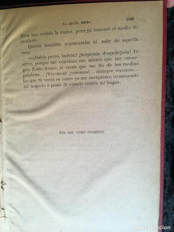 Libros antiguos: LA ARAÑA NEGRA - VICENTE BLASCO IBÁÑEZ - 1892 - 2 TOMOS - CROMOLITOGRAFÍAS - 1ª ED. SEIX EDITOR - Foto 11 - 192836916
