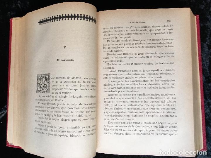 Libros antiguos: LA ARAÑA NEGRA - VICENTE BLASCO IBÁÑEZ - 1892 - 2 TOMOS - CROMOLITOGRAFÍAS - 1ª ED. SEIX EDITOR - Foto 13 - 192836916