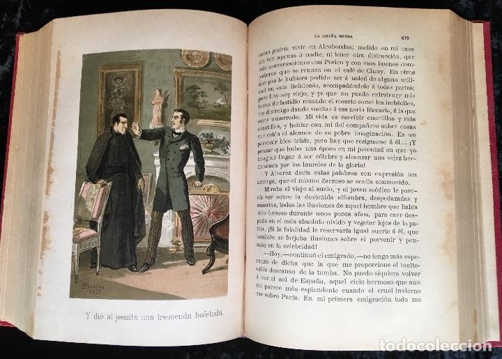 Libros antiguos: LA ARAÑA NEGRA - VICENTE BLASCO IBÁÑEZ - 1892 - 2 TOMOS - CROMOLITOGRAFÍAS - 1ª ED. SEIX EDITOR - Foto 15 - 192836916