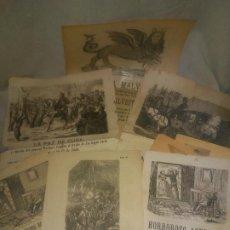 Libros antiguos: COLECCION DE PLIEGOS DE CORDEL DEL SIGLO XIX - MUY RAROS.. Lote 193209266