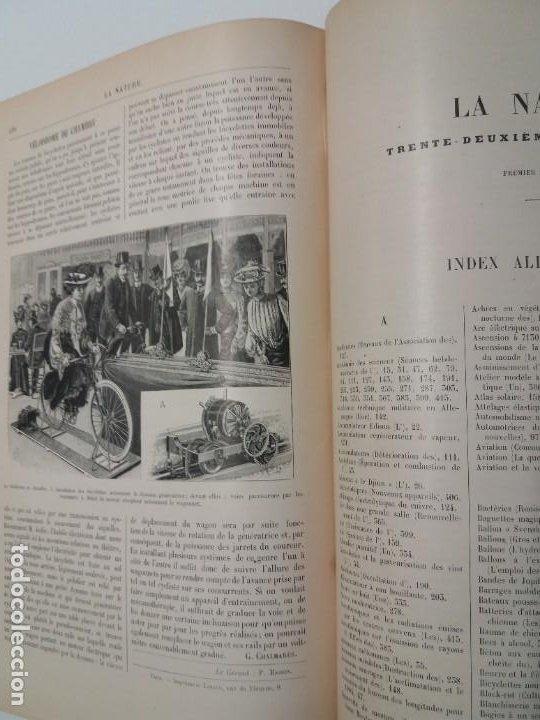 Libros antiguos: LIBRO LA NATURE, REVISTA DE CIENCIAS, 1904, PRECIOSA ENCUADERNACION - Foto 54 - 193210763