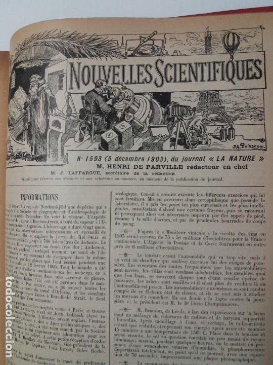 Libros antiguos: LIBRO LA NATURE, REVISTA DE CIENCIAS, 1904, PRECIOSA ENCUADERNACION - Foto 55 - 193210763