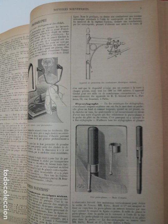 Libros antiguos: LIBRO LA NATURE, REVISTA DE CIENCIAS, 1904, PRECIOSA ENCUADERNACION - Foto 56 - 193210763