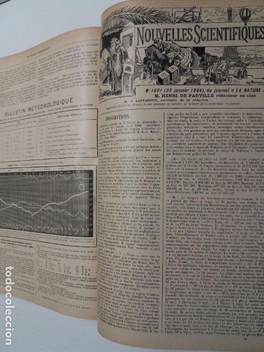Libros antiguos: LIBRO LA NATURE, REVISTA DE CIENCIAS, 1904, PRECIOSA ENCUADERNACION - Foto 58 - 193210763