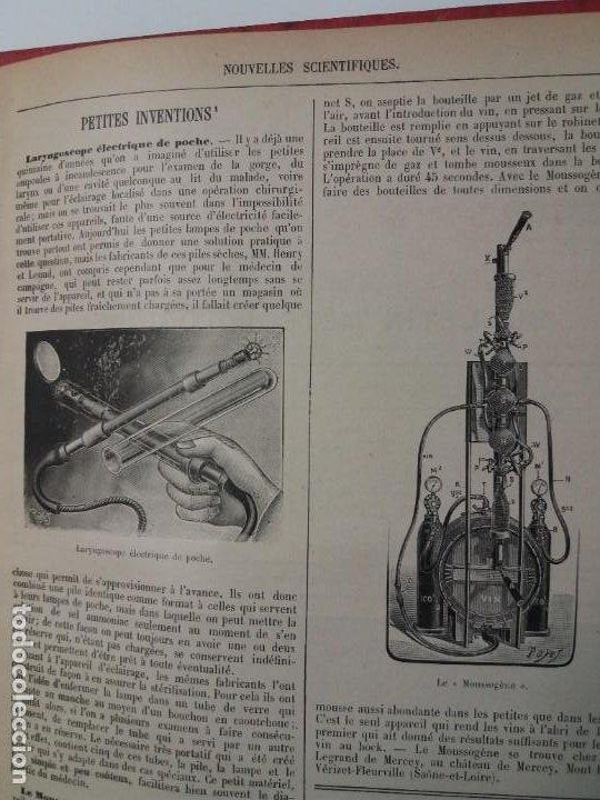 Libros antiguos: LIBRO LA NATURE, REVISTA DE CIENCIAS, 1904, PRECIOSA ENCUADERNACION - Foto 62 - 193210763