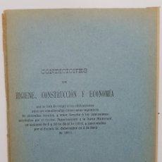 Libros antiguos: MADRID 1910 CASAS HIGIENICAS DE VIVIENDAS BARATAS CONDICIONES DE LA HIGIENE, CONSTRUCCIÓN Y ECONOMÍA. Lote 193342278