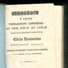 Libri antichi: NUMULITE L1214 SELECTAE É VETERI TESTAMENTO HISTORIAE FIGUERAS FIGUERES 1843 GREGORI MATAS. Lote 193383307