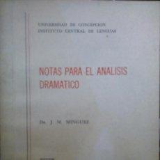 """Libri antichi: """"GEORG BÜCHNER. """""""" WOYZECK """""""" Y """""""" LA MUERTE DE DANTÓN """""""". NOTAS PARA EL ANÁLISIS DRAMÁTICO"""" - MÍNGU. Lote 193543912"""
