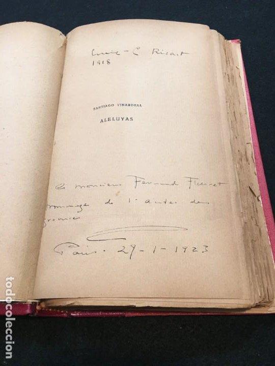 Libros antiguos: Santiago Vinardell. Aleluyas. Grabados Originales al Boj por E.- Cristóbal Ricart. Ded. Autóg. 1919. - Foto 2 - 193611587