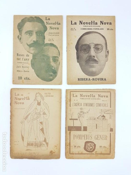 LOTE DE 4 NOVELAS ( PUBLICACIÓ CATALANA ) LA NOVEL.LA NOVA ( PUBLICIDAD ) (Libros antiguos (hasta 1936), raros y curiosos - Literatura - Narrativa - Otros)