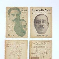 Libros antiguos: LOTE DE 4 NOVELAS ( PUBLICACIÓ CATALANA ) LA NOVEL.LA NOVA ( PUBLICIDAD ). Lote 193628598