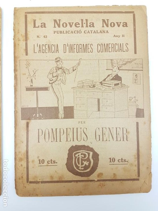 Libros antiguos: LOTE DE 4 NOVELAS ( PUBLICACIÓ CATALANA ) LA NOVEL.LA NOVA ( PUBLICIDAD ) - Foto 3 - 193628598